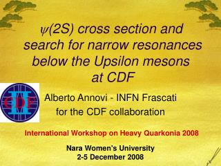  (2S) cross section and  search for narrow resonances below the Upsilon mesons  at CDF