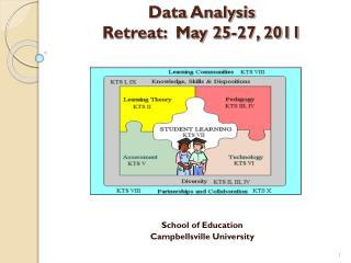 Data Analysis Retreat:  May 25-27, 2011