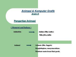 Animasi & Komputer Grafik