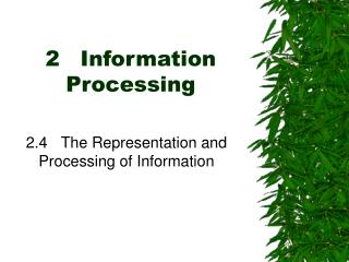 2	 Information Processing