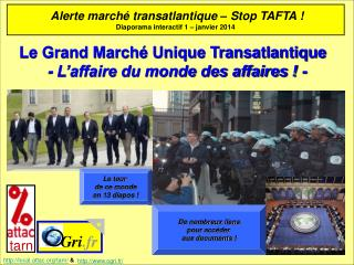 Le Grand Marché Unique Transatlantique   - L'affaire du monde des affaires ! -