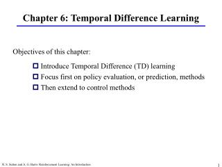 Chapter 6: Temporal Difference Learning