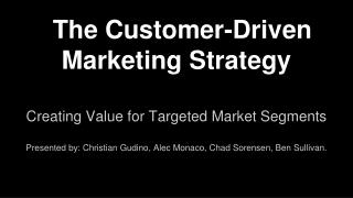 The Customer-Driven Marketing Strategy