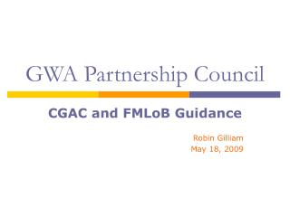 GWA Partnership Council