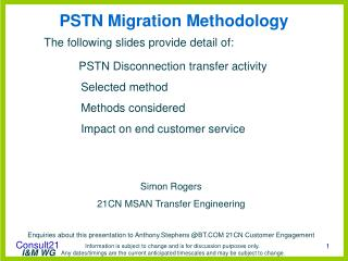 PSTN Migration Methodology