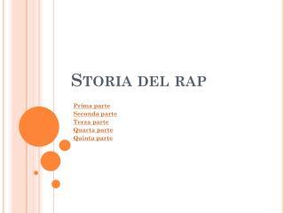 Storia del rap