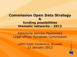 Commission Open Data Package in  context