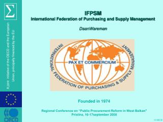 IFPSM International Federation of Purchasing and Supply Management DaanWareman