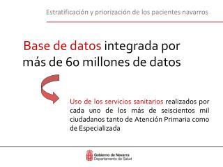 Base de datos  integrada por más de 60 millones de datos