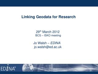 Linking Geodata for Research