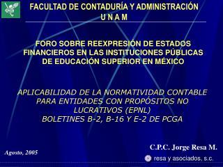 C.P.C. Jorge Resa M.