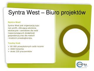 Syntra West –  Biuro projektów