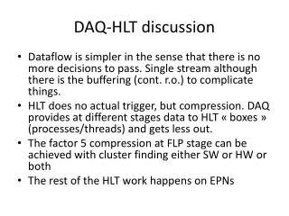 DAQ-HLT discussion