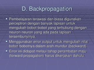 D. Backpropagation