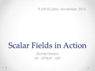 Scalar Fields in Action