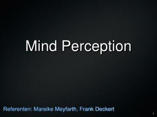 Mind Perception