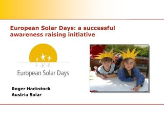 European Solar Days: a successful awareness raising initiative