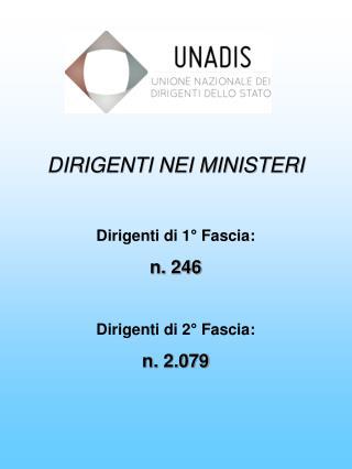 DIRIGENTI NEI MINISTERI