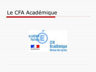 Le CFA Acad�mique