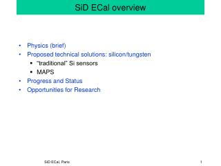SiD ECal overview