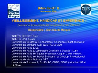 INRETS, LESCOT, Bron INRETS, LPC, Arcueil
