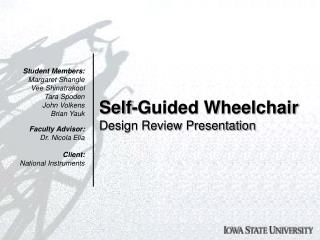 Self-Guided Wheelchair Design Review Presentation