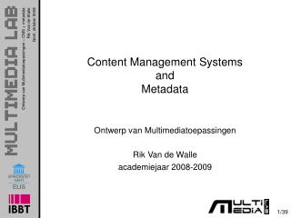 Content Management Systems and Metadata