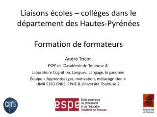 Liaisons écoles – collèges dans le département des Hautes- Pyrénées Formation de formateurs