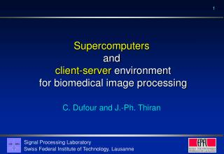 Supercomputers and client-server  environment  for biomedical image processing