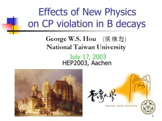 Effects of New Physics    on CP violation in B decays