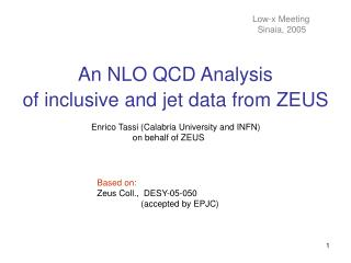 An NLO QCD Analysis of inclusive and jet data from ZEUS