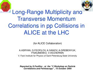 Long-Range Multiplicity and Transverse Momentum Correlations in pp Collisions in ALICE at the LHC