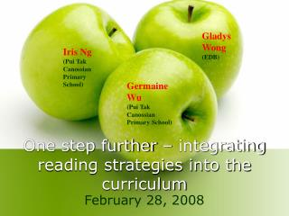 One step further – integrating reading strategies into the curriculum
