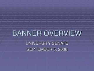 BANNER OVERVIEW