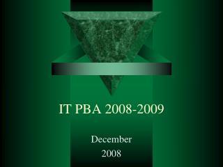 IT PBA 2008-2009