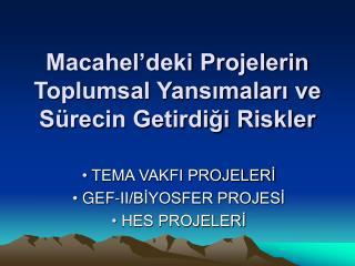 Macahel'deki Projelerin Toplumsal Yansımaları ve Sürecin Getirdiği Riskler