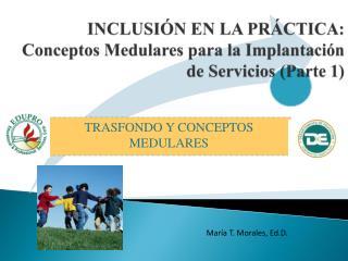 INCLUSIÓN EN LA PRÁCTICA: Conceptos Medulares para la Implantación de Servicios (Parte 1)