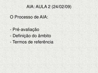 AIA: AULA 2 (24/02/09)