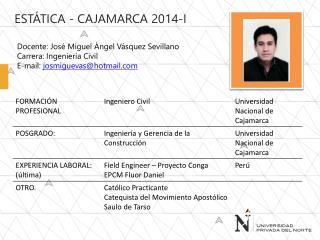 ESTÁTICA - Cajamarca 2014-I