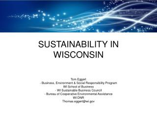 SUSTAINABILITY IN WISCONSIN