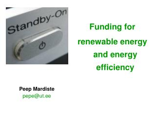 Funding for renewable energy and energy efficiency