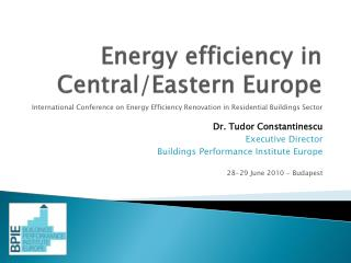 Energy efficiency in  Central/Eastern Europe
