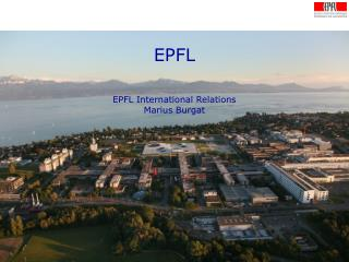 EPFL EPFL International Relations Marius Burgat