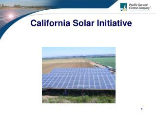 California Solar Initiative