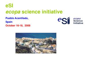 eSI ecopa  science initiative