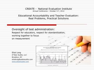 Oversight of test administration: Respect for educators, respect for standardization,