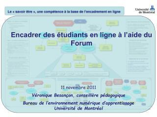 Encadrer des étudiants en ligne à l'aide du Forum