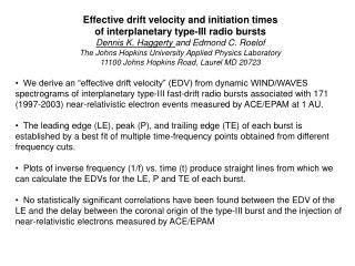 Effective drift velocity and initiation times  of interplanetary type-III radio bursts