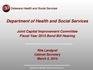 Department of Health and Social Services Joint Capital Improvement Committee