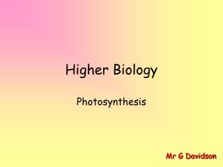 Higher Biology